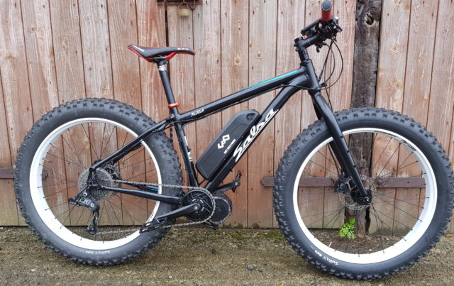 bafang bbshd mid drive motor kit fitted to a fat bike