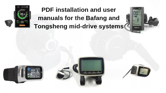 user manuals for the bafang and tongsheng mid drive ebike systems