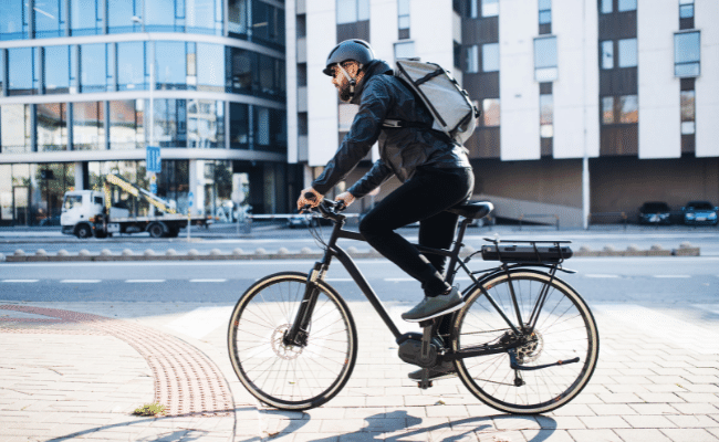 using an electric bike for delivery